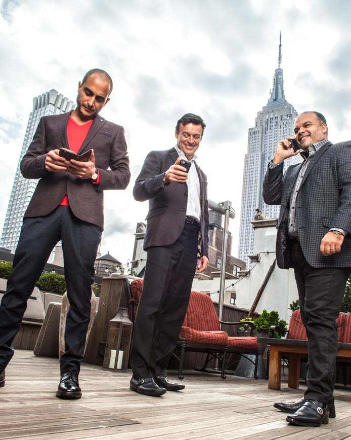 View formal and casual photographs of business professionals.